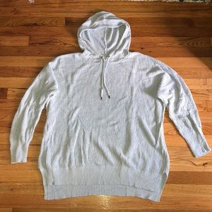 AE powder blue knitted pullover hoodie